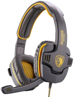 Sades SA-708 Stereo Gaming Headphone/Headset with Microphone Grey/Yellow (SA708-G-Y)
