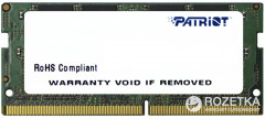 Оперативная память Patriot SODIMM DDR4-2400 4096MB PC4-19200 Signature Line (PSD44G240081S)