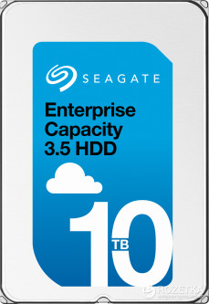 "Жесткий диск Seagate Enterprise Capacity 10TB 7200rpm 256MB ST10000NM0096 3.5"" 512e SAS"