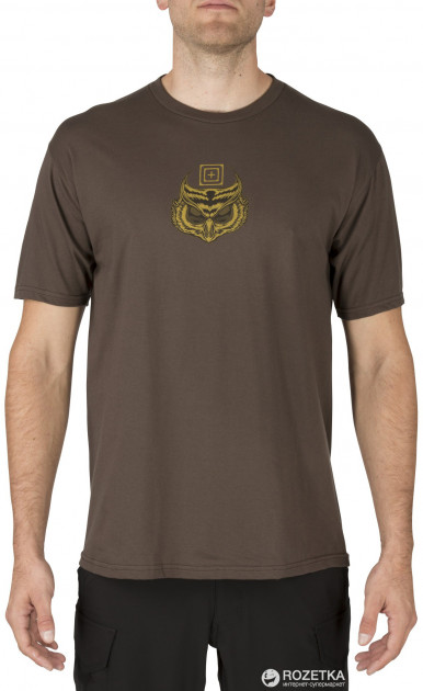 Футболка 5.11 Tactical Owl Tee 41195AN 2XL Chocolate (2000980423828)