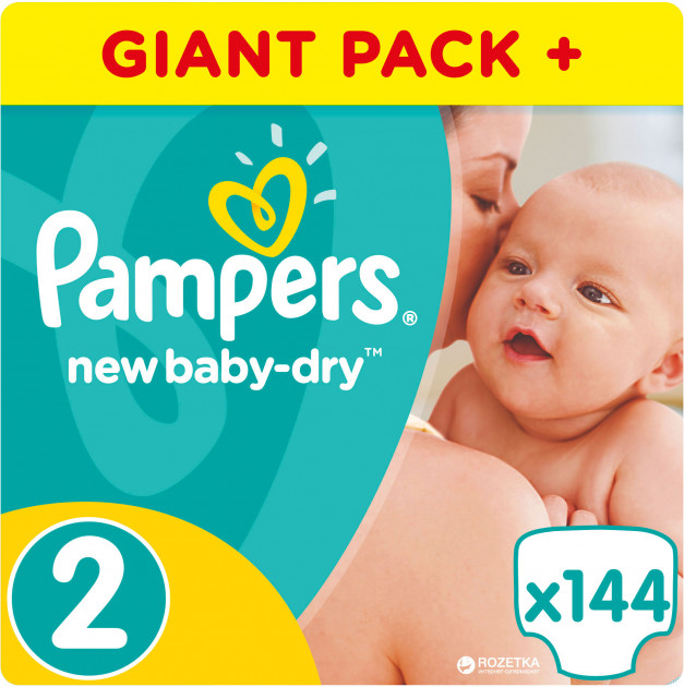 ee55b7b8f0d1 Rozetka.ua   Подгузники Pampers New Baby-Dry Размер 2 Mini 3-6 кг ...