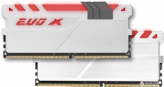 Оперативная память GeIL DDR4-3200 16384MB PC4-25600 (Kit of 2x8192) Evo X White H LED (GEXG416GB3200C16ADC)