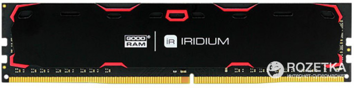 Оперативная память Goodram DDR4-2133 8192MB PC4-17000 Iridium Black (IR-2133D464L15S/8G) - изображение 1