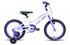 "Велосипед Apollo 16"" Neo girls Brushed Alloy Purple-White 2018 (SKD-29-81)"