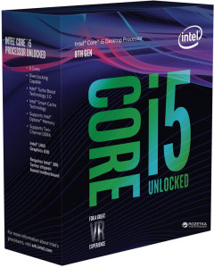 Процессор Intel Core i5-8600K 3.6GHz/8GT/s/9MB (BX80684I58600K) s1151 BOX