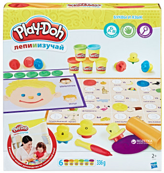 Игровой набор пластилина Hasbro Play-Doh Буквы и языки (C3581)