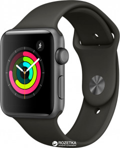 Apple Watch Series 3 GPS 42mm Space Grey Aluminium Case with Grey Sport Band (MR362FS/A)