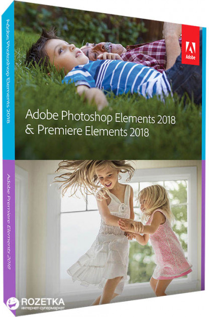 Adobe Photoshop Elements и Premiere Elements 2018 International English Upgrade License 1 лицензия 1 ПК (65281844AD01A00)