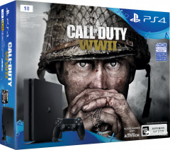 PlayStation 4 Slim 1TB (CUH-2108B) Bundle + игра Call of Duty: WWII (PS4)