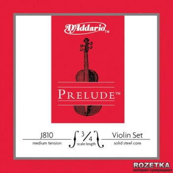 Струни D'Addario J810 3/4M Prelude Medium Tension