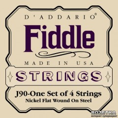 Струны D'Addario J90 4/4 Fiddle Medium Tension