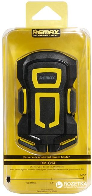 Remax Air Vent Smartphone Holder Rm C10 Blackyellow Daftar Update Source · Remax RM C14 Black Yellow