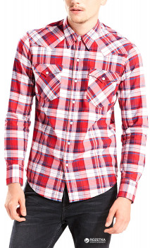 6faeeef402c Рубашка Levi s Barstow Western Red Check Shirt XS (65816-0220)
