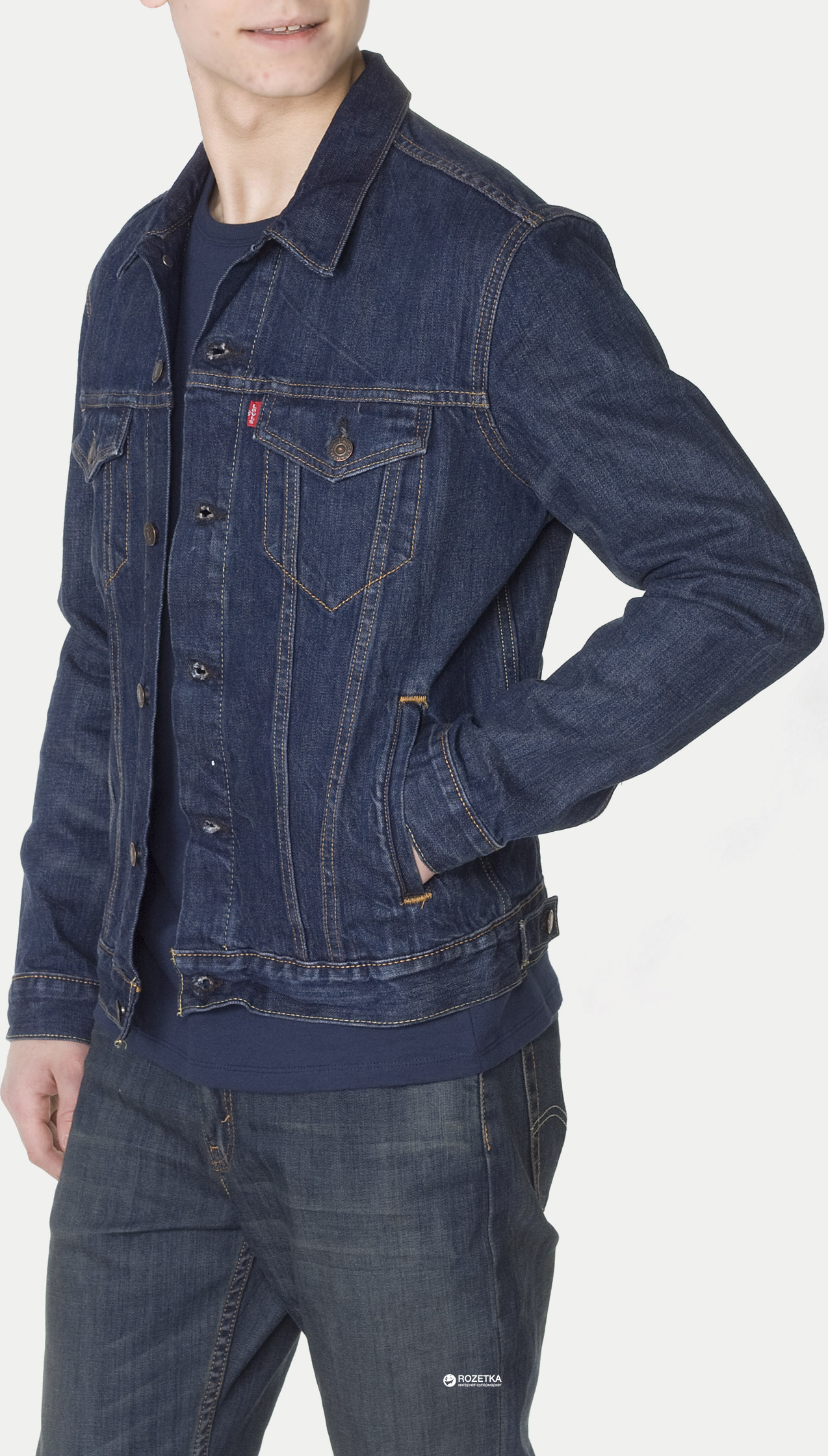 Джинсовая куртка Levi s The Trucker Jacket Conifer XS (72334-0147) 30f3396a31466