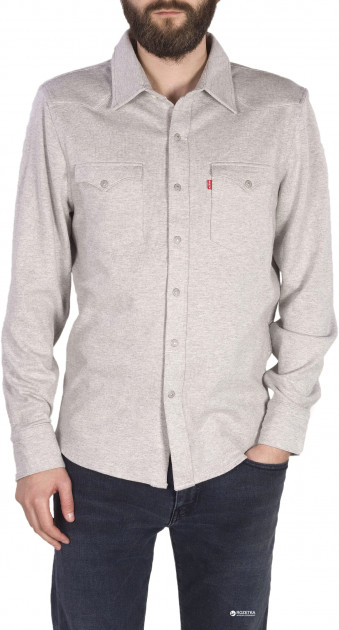 Рубашка Levi's Barstow Knit Western Shirt Grey Heather S (16096-0003)
