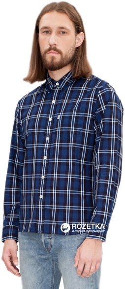 Рубашка Levi's Sunset One Pocket Shirt Aspen Indigo Plaid M (65824-0307)