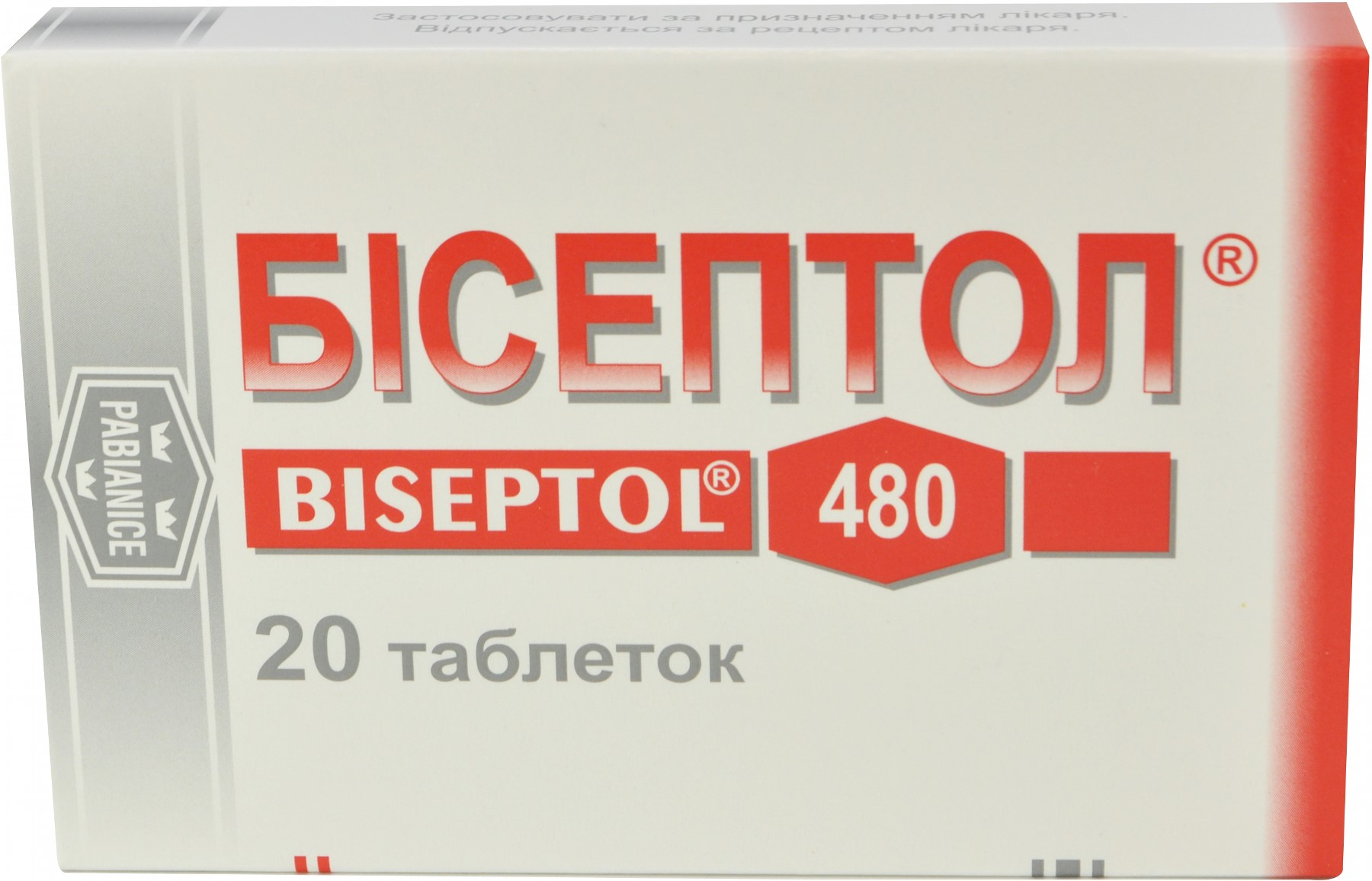 Medicine Biseptol. Instruction 53
