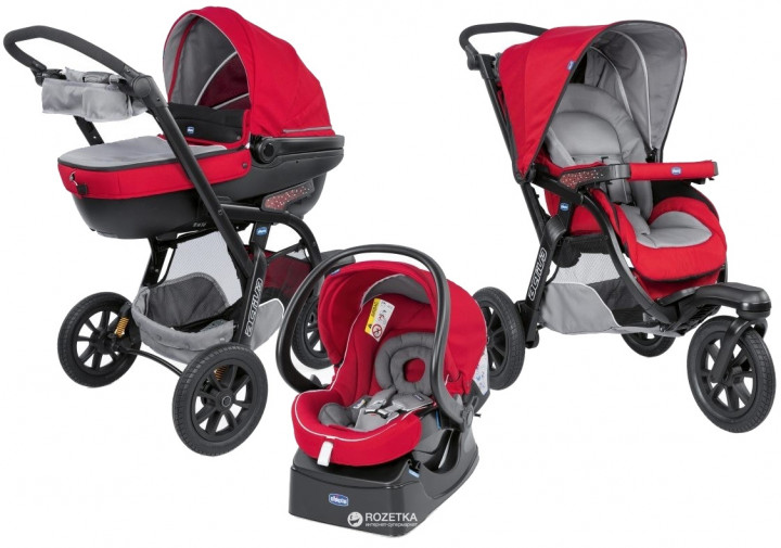 Коляска Chicco Trio Active3 Top Красная (79270.85) - изображение 1