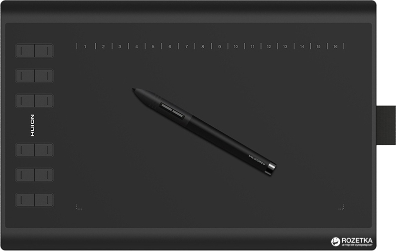 Графический планшет Huion New 1060Plus с перчаткой