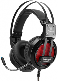 Aula Razorback Gaming Virtual 7.1 Sound Headset Black (6948391232744)