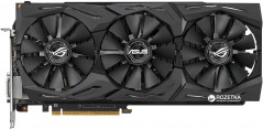 Asus PCI-Ex Radeon RX Vega 64 8192MB HBM2 (2048bit) (1590МГц) (DVI, 2 x HDMI, 2 x DisplayPort) (ROG-STRIX-RXVEGA64-O8G-GAMING)