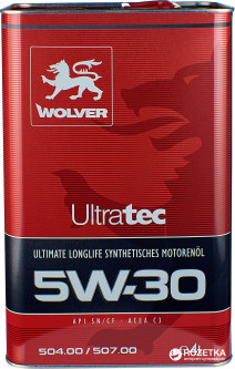 Моторное масло Wolver UltraTec 5W-30 4 л (4260360942600)