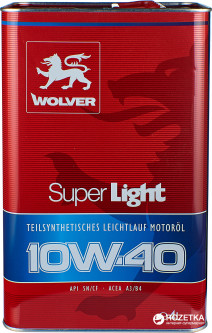 Моторное масло Wolver Super Light 10W-40 4 л (4260360940033)