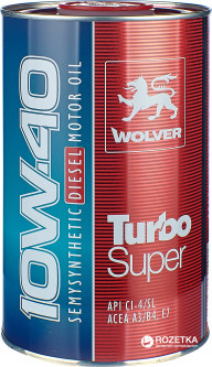Моторное масло Wolver Turbo Super 10W-40