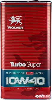 Моторное масло Wolver Turbo Super 10W-40 5 л (4260360940910)