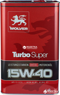 Моторное масло Wolver Turbo Super 15W-40 4 л (4260360941238)