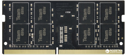 Оперативна пам'ять Team Elite SODIMM DDR4-2133 4096MB PC4-17000 Black (TED44G2133C15-S01)
