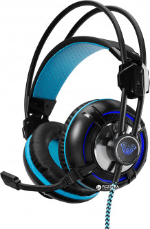 Aula Spirit Wheel Gaming Headset Black-Blue (6948391232089)