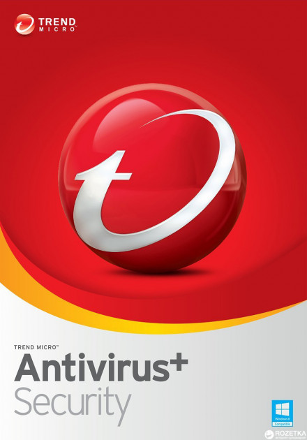 Антивирус Trend Micro AntiVirus+ Security 2018 (1 ПК) лицензия на 1 год Базовая (TI10972746)
