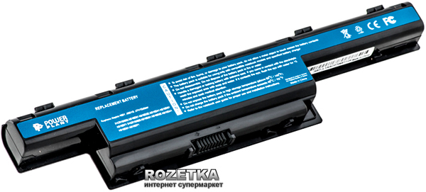 Аккумулятор PowerPlant AS10D41, GY5300LH для Acer Aspire 4551 Black (10.8V/5200mAh/6 Cells)