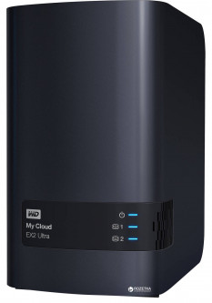 "Western Digital My Cloud EX2 Ultra 4TB WDBVBZ0040JCH-EESN 2х3.5"" USB3.0 LAN External"