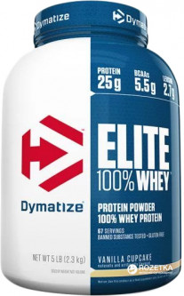 Протеин Dymatize Nutrition Elite Whey 2.27 кг Vanilla Cupcake (705016560172)