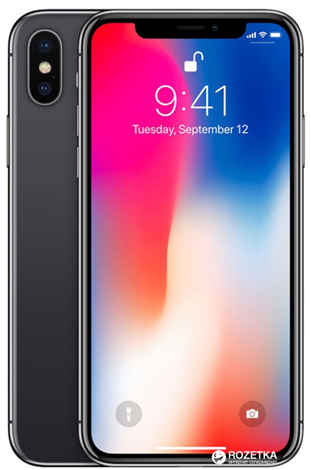 38cd5f0a6e8e3 ROZETKA | Apple iPhone X 256GB Space Gray (MQAF2). Цена, купить ...