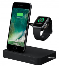 Belkin Charge Dock для Apple Watch + iPhone Black (F8J183vfBLK)
