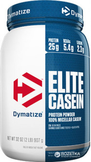 Протеин Dymatize Nutrition Elite Casein 908 г Chocolate Peanut Butter (705016224807)