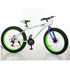 "Велосипед Profi 26"" EB26POWER 1.0 S26.3 White-Blue-Lime Green (EB26POWER 1.0)"
