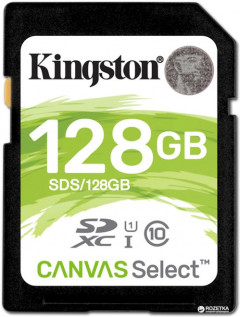 Kingston SDXC 128GB Canvas Select Class 10 UHS-I U1 (SDS/128GB)