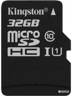 Kingston microSDHC 32GB Canvas Select Class 10 UHS-I U1 (SDCS/32GBSP)