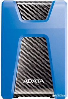 "Жесткий диск ADATA DashDrive Durable HD650 1TB AHD650-1TU31-CBL 2.5"" USB 3.1 External Blue"