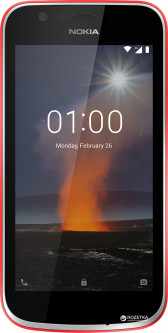 Nokia 1 Dual Sim Warm Red