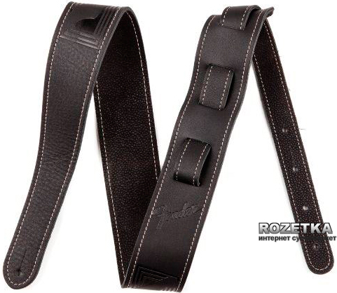 Monogrammed Leather Strap (099-0681-006) Black