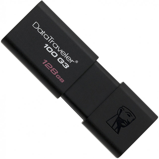 Kingston DataTraveler 100 G3 128GB USB 3.0 Black (DT100G3/128GB) - изображение 1