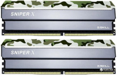Оперативная память G.Skill DDR4-3000 16384MB PC4-24000 (Kit of 2x8192) Sniper X Classic Camo (F4-3000C16D-16GSXFB)