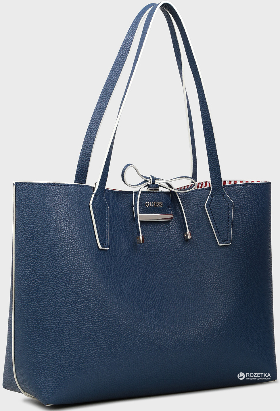 c1e584db8aaa Женская сумка Guess Bobbi Inside Out Tote HWNS6422150 Синяя (190231093534)