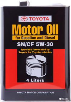 Масло моторное Toyota ENGINE OIL 5W-30 4 л (08880-83322)