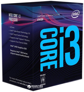Процесор Intel Core i3-8300 3.7GHz/8GT/s/8MB (BX80684I38300) s1151 BOX